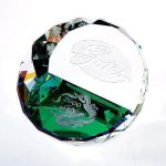 Duet Round Paperweight- Color Executive Gift Awards