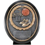 Basketball Resin Oval Oval Resin Trophy Awards