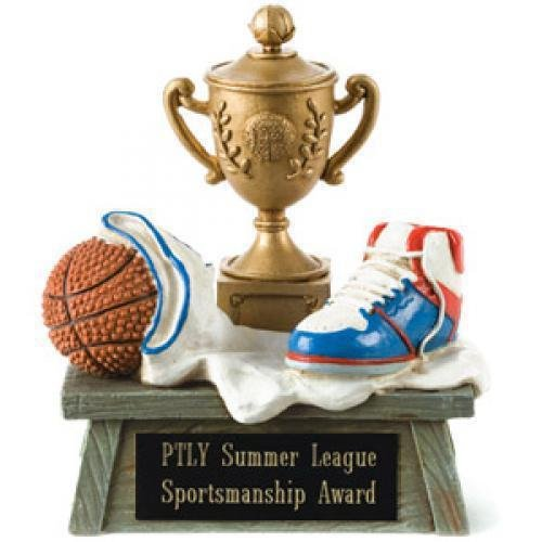 Vintage Trophy Award Basketball Trophies | Resin